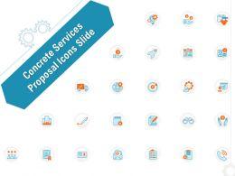 Concrete Services Proposal Icons Slide Ppt Powerpoint Presentation Slides Deck