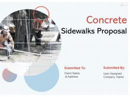 Concrete Sidewalks Proposal Powerpoint Presentation Slides