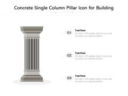 Concrete Single Column Pillar Icon For Building