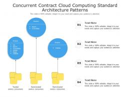 Concurrent Contract Cloud Computing Standard Architecture Patterns Ppt Powerpoint Slide