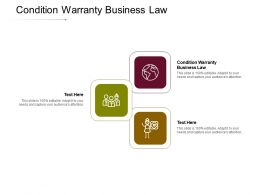 Condition Warranty Business Law Ppt Powerpoint Presentation File Graphics Cpb