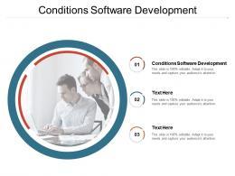 Conditions Software Development Ppt Powerpoint Presentation Ideas Background Designs Cpb