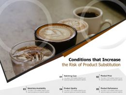 Conditions That Increase The Risk Of Product Substitution