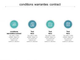 Conditions Warranties Contract Ppt Powerpoint Presentation Infographic Template Design Ideas Cpb