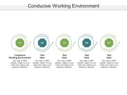 Conducive Working Environment Ppt Powerpoint Presentation Inspiration Styles Cpb
