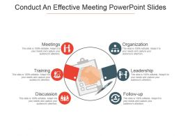 Conduct An Effective Meeting Powerpoint Slides