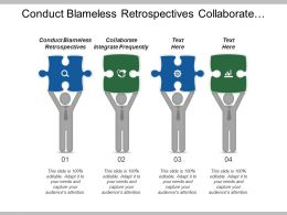 Conduct Blameless Retrospectives Collaborate Integrate Frequently Evolves Solution