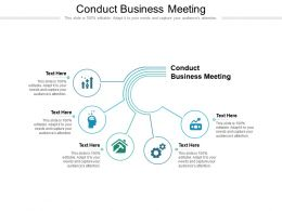 Conduct Business Meeting Ppt Powerpoint Presentation File Information Cpb