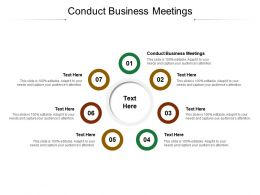 Conduct Business Meetings Ppt Powerpoint Professional Graphics Tutorials Cpb
