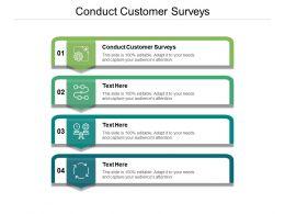 Conduct Customer Surveys Ppt Powerpoint Presentation Inspiration Visuals Cpb