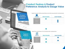 Conduct Feature And Product Preference Analysis To Gauge Value Ppt Powerpoint Presentation