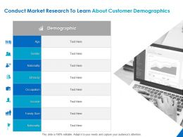 Conduct Market Research To Learn About Customer Demographics Ppt Powerpoint Presentation