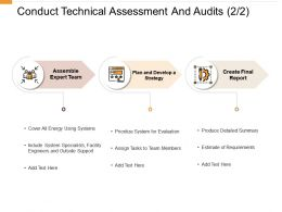 Conduct Technical Assessment And Audits Strategy Ppt Powerpoint Presentation Layouts
