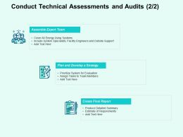 Conduct Technical Assessments And Audits Ppt Powerpoint Presentation File Infographic Template