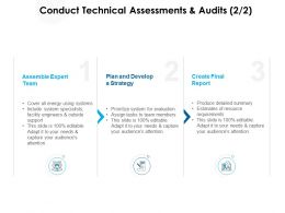 Conduct Technical Assessments And Audits Strategy Ppt Powerpoint Slides