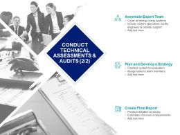 Conduct Technical Assessments And Audits Strategy Ppt Slide
