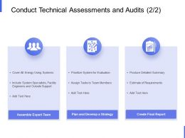 Conduct Technical Assessments And Audits Team Members Ppt Powerpoint Slides