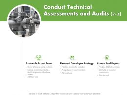 Conduct Technical Assessments And Audits Team Ppt Powerpoint Icon