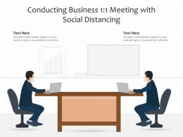 Conducting Business 1 1 Meeting With Social Distancing