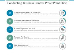 Conducting Business Control Powerpoint Slide