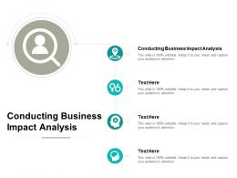Conducting Business Impact Analysis Ppt Powerpoint Presentation Infographic Template Cpb