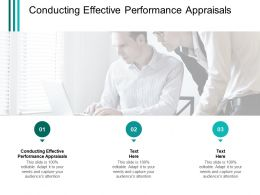 Conducting Effective Performance Appraisals Ppt Powerpoint Presentation Pictures Good Cpb