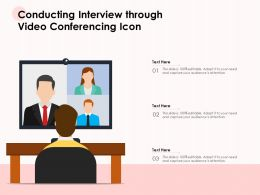 Conducting Interview Through Video Conferencing Icon