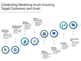 Conducting Marketing Audit Including Target Customers And Goals