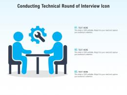 Conducting Technical Round Of Interview Icon