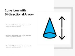 Cone Icon With Bi Directional Arrow