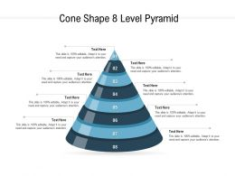 Cone Shape 8 Level Pyramid