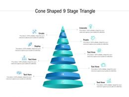Cone Shaped 9 Stage Triangle