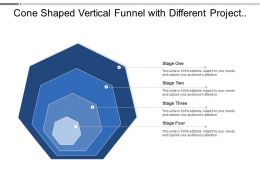 Cone Shaped Vertical Funnel With Different Project Stages