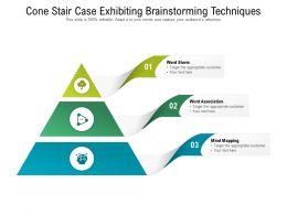 Cone Stair Case Exhibiting Brainstorming Techniques