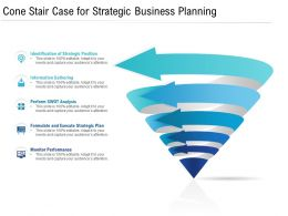 Cone Stair Case For Strategic Business Planning
