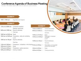 Conference Agenda Of Business Meeting