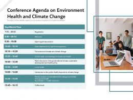Conference Agenda On Environment Health And Climate Change