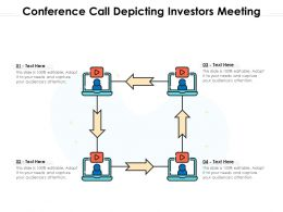 Conference Call Depicting Investors Meeting
