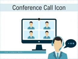 Conference Call Icon Conversation Interview Teamwork Business Employees Computer