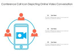 Conference Call Icon Depicting Online Video Conversation