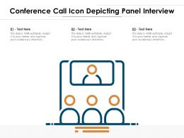 Conference Call Icon Depicting Panel Interview