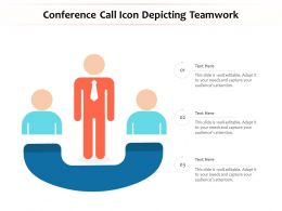 Conference Call Icon Depicting Teamwork