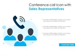 Conference Call Icon With Sales Representatives