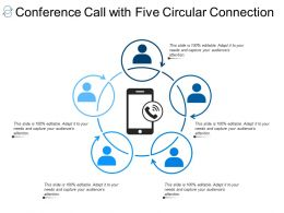 Conference Call With Five Circular Connection