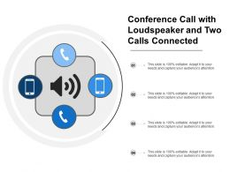 Conference Call With Loudspeaker And Two Calls Connected