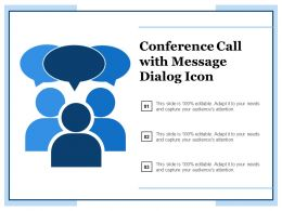 Conference Call With Message Dialog Icon