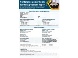Conference Center Room Rental Agreement Report Presentation Report PPT PDF Document