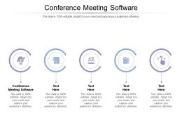 Conference Meeting Software Ppt Powerpoint Presentation Styles Shapes Cpb