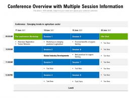 Conference Overview With Multiple Session Information