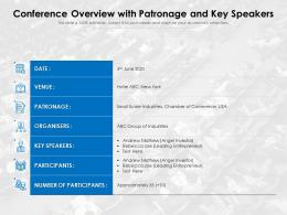 Conference Overview With Patronage And Key Speakers